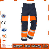 High Visibility Safety Work Orange Reflective Pants