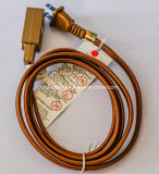 Dark Brown Fabric Twisted Cord Electrical Cable