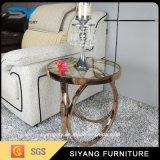 Antique Reproduction Furniture Glass Side Shelf Desk