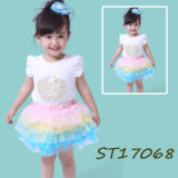 Cute Fashioned Smocked Short Mini Tutu Dresses for Girls