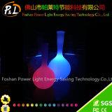 Colorful Rechargeable Illuminated Decorative Plastic Vase