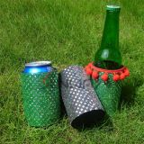 Neoprene Stubby Holder with Lace, Beaded Stubby Cooler (BC0062)