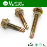 Hex Flange Head Self Drilling Screw with Washer (DIN7504K)