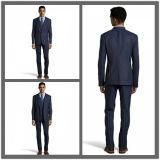 OEM Italian Fabric Customize Slim Fit 3PCS Navy Blue Suit for Men