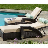 Commercial Rattan Chaise Lounge (CL-1014)