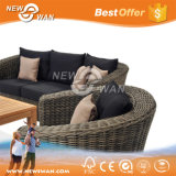 Waterproof PE Rattan Outdoor Sofa Set with Patio Umbrella (Furniture)