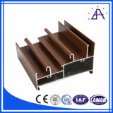 Wood Color Extruded Aluminium Decoration Profiles