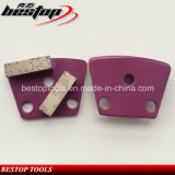 Two Segments Concrete Trapezoid Grinding Block with Polar Magnetic Back