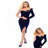 One Shoulder Beading Short Party Prom Evening Dress