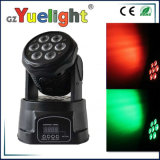7PCS 10 Watt LED Mini DMX Wash Moving Head Light