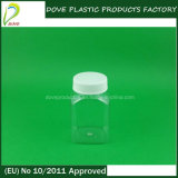 60ml Square Shape Pet Clear Bottle with Normal Screw Lid