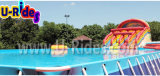 water park Frame Pool with Inflatable Slide