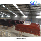 Cherry Color Best Seller Chinese Wholesale Velvet Casket and Coffin