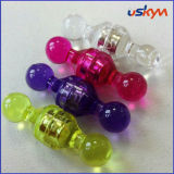 China Colorful Clear Plastic Magnetic Paper Holder Push Pin ...