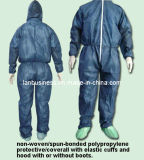 Disposable PP with Microporous Coverall with Hood