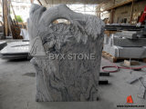 White Granite Europe Style Tree Carved Headstone / Tombstone