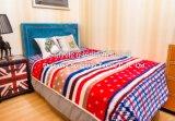 100% Polyester Jacquard Printed Flannel Blanket/ Honeycomb Printed Blanket