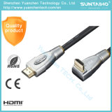 Male to Right Angle Male Metal Head 1080P HDMI Cable