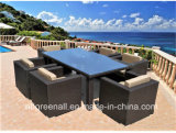 6 Seater Rattan Patio Garden Outdoor Dining Furniture