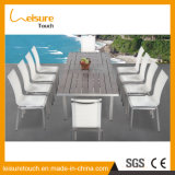 Anti-Decay Anodized Aluminum with Textilene Extendable Dining Table and Chairs Good Quality Outdoor Patio Garden Furniture