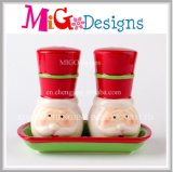 Christmas Gift Ideas Santa Ceramic Salt and Pepper Shakers