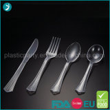 Clear/Transparent Color Plastic PS Disposable Party Heavy Weight Cutlery