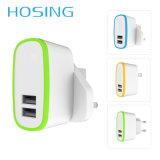 EU UK Us Plug Dual USB 5 V 2.1A Travel Adapter USB Charger for iPhone Samsung