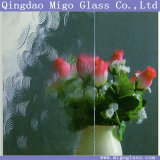 3.5-5mm Glass Panel, Decorative Figured Window Glass with May Flower Pattern