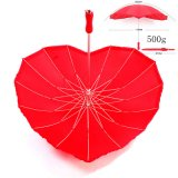 Promotional Heart Shaped Umbrella for Promotion Wedding Gift
