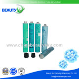 Blue Color Printing Empty Aluminum Packaging Cosmetic Tube