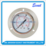 Liquid Filled Pressure Gauge- with Front Flange- with U Clamp