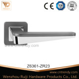Bedroom Bathroom Zinc Furniture Door Lock Handle on Rose (Z6361-ZR23)