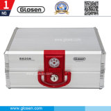 20 Compartments Metal Office Stamp Storage Box with Lock