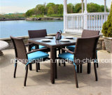 Outdoor Rattan Wicker Dining Table and Chair Patio Furniture