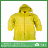Yellow Pure PU Waterproof Raincoat for Worker