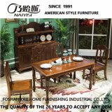 Latest Simple Design Solid Wood Dining Room Table for Home Use with Good Quality As837