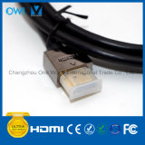 Slim HDMI 19 Pin Plug-Plug Cable for 4K & HDTV Black Plug