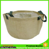 Custom Planting Flower Jute Fabric Pot for Balcony Use