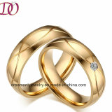 IP Gold Plated Ring Fashion Finger Ring for Men and Women