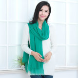 Fashion 30%Silk & 70%Modal Scarf in Solid Color (12-BR030120-1.18)