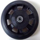 Glossy 10*2 Black PU Foamed Stroller Wheel