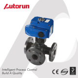 Control Valve Three Way Flange Ball Valve with Electric Actuator