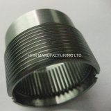 Customized CNC High Precision Machining Part Heat Broaching Grinding Tread Gear Ring with Carbon Treatment and Nitridazing for Pneumatic Tooling