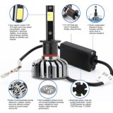 80W 8000lumens 6000k H1 LED Headlight Conversion
