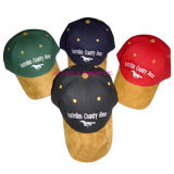 Cotton Twill Baseball Cap with Suede Visor