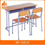 Plastic School Classroom Furniture with Wood Top