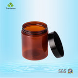 250ml Amber Cosmetic Jar Plastic Cosmetic Container for Cream Packing