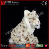 Realistic Stuffed Animal Eurasian Lynx Plush Lynx Soft Toy for Kids