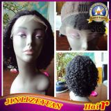 Kinky Curly Lace Front Wig 14 Inch Indian Remy Human Hair Wig