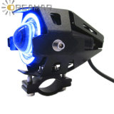 U7 Motorcycle LED Headlight Blue Angel Eye